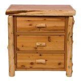 Premium Cedar 3 Drawer Chest by Fireside Lodge