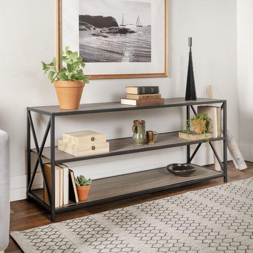 Augustus Media Etagere Bookcase | Küche und Esszimmer > Aufbewahrung > Etageren | Treibholz | LoftDesigns