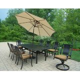 Zulema 11 Piece Dining Set with Cushions
