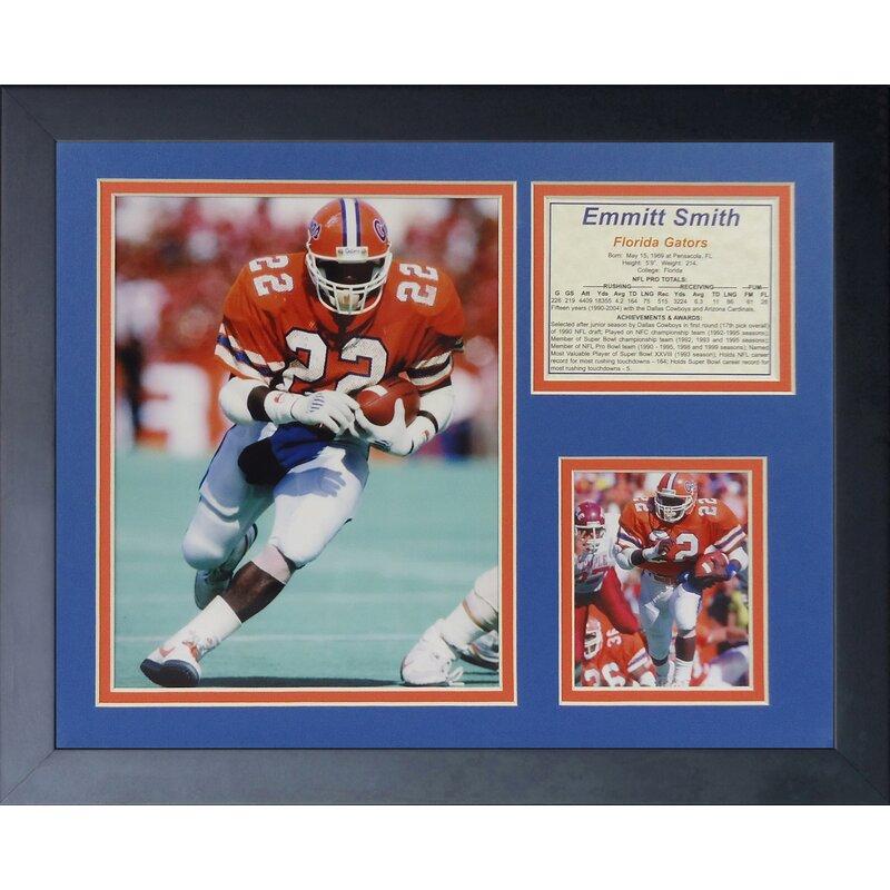 77faa86cda1 Legends Never Die Emmitt Smith - Florida Framed Memorabilia   Wayfair