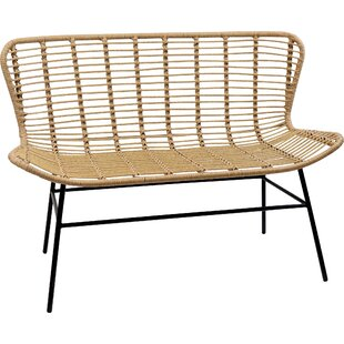 Vinehill Wicker Bench By Bay Isle Home