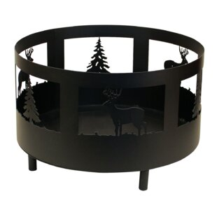 Coast Lamp Mfg. Deer and Tree Scene Metal..