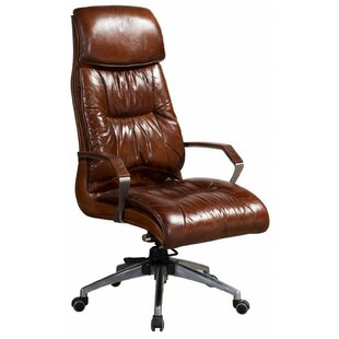 Rankin Leather Executive Chair By Williston Forge