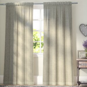 Baillons Solid Sheer Rod Pocket Curtain Panels (Set of 2)