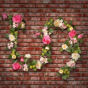 rose and hydrangea garland