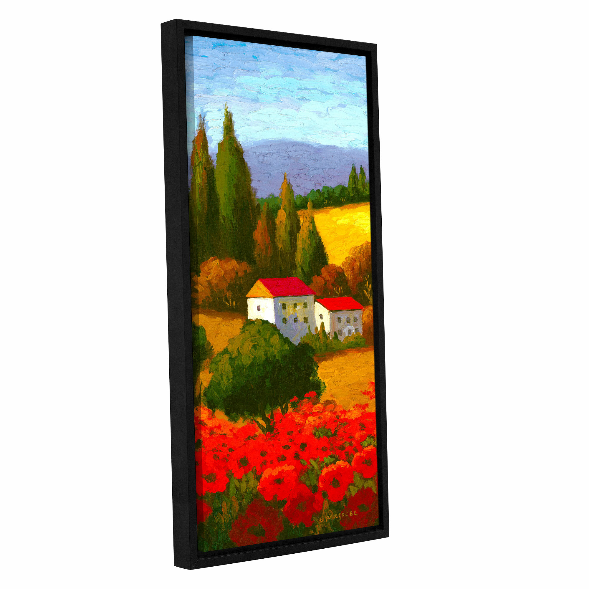 Red Barrel Studio Tuscan Poppies I Painting Print On Wrapped Canvas Wayfair