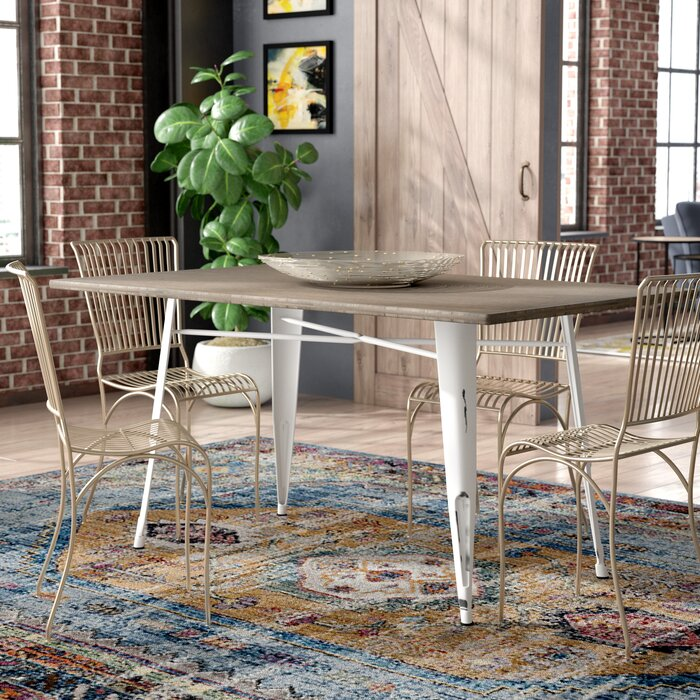 reputable site c8a86 3350d Claremont Industrial Farmhouse Dining Table