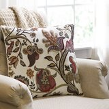 Finnigan Autumn Garden Embroidered Pillow Cover