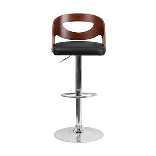 Alberto Adjustable Height Swivel Bar Stool by Orren Ellis