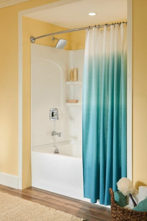 MoenR Decorative 72 Adjustable Curved Fixed Shower Curtain Rod