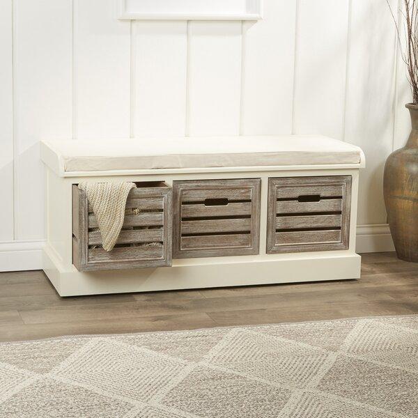 Admirable Arocho Wood Storage Bench Wayfair Squirreltailoven Fun Painted Chair Ideas Images Squirreltailovenorg