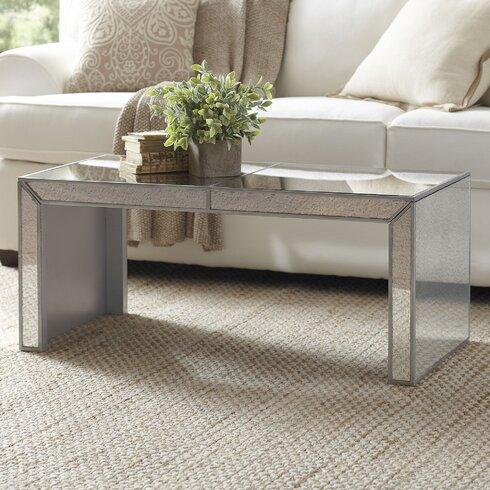 Birch Lane Elliott Mirrored Coffee Table Wayfair - Wayfair mirrored coffee table