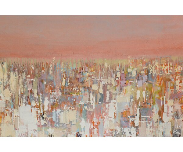 East Urban Home Urbanities Series Cityscape Painting Print On Wrapped Canvas Reviews Wayfair