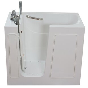 Ella Walk In Baths Small Long Air and Hydro Massage Whirlpool Walk-In Tub