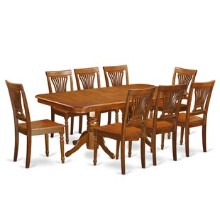 Pillsbury Traditional 9 Piece Dining Set with Rectangular Table Top August Grove