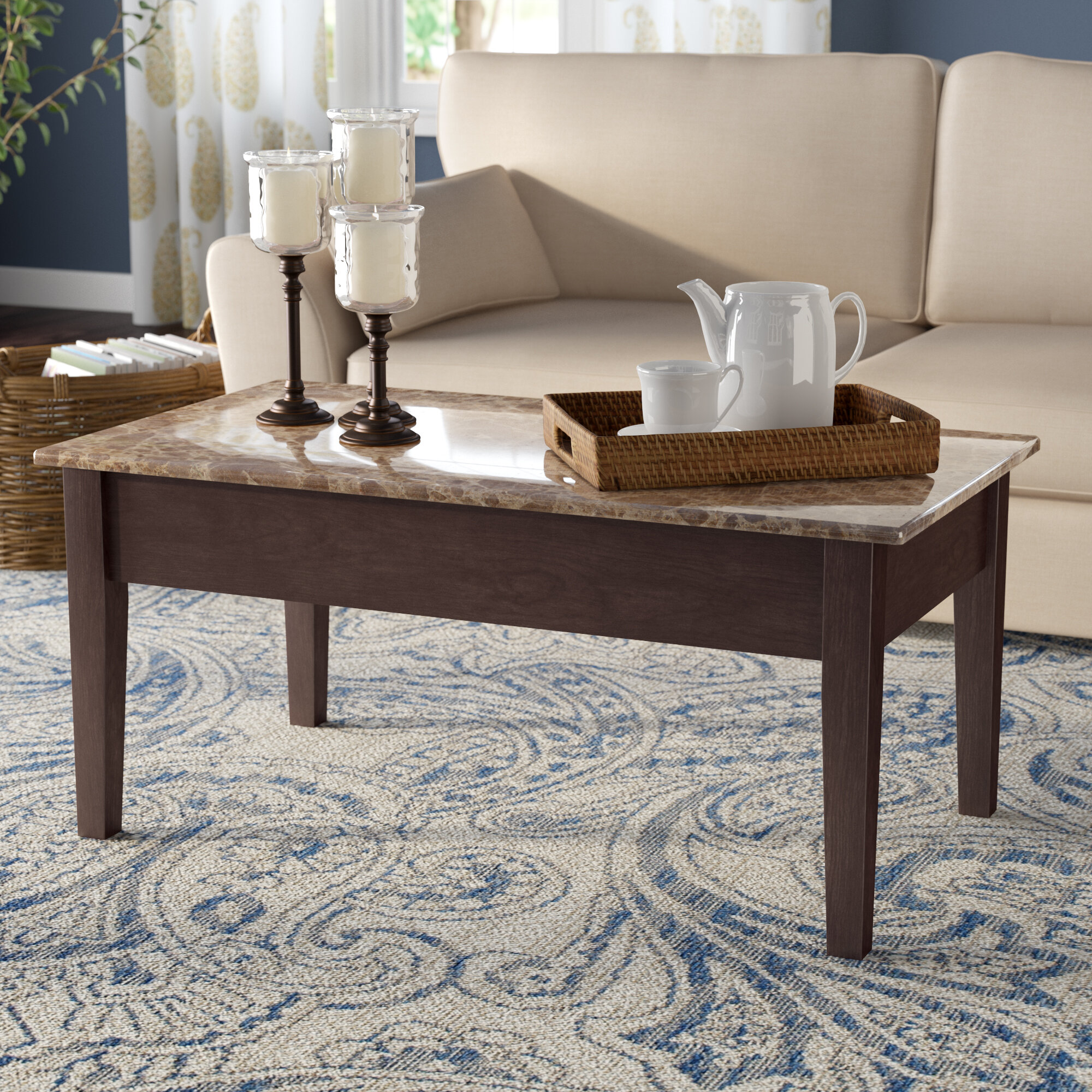 - Andover Mills Carterville Lift Top Coffee Table With Storage