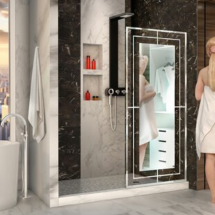 Bargain Linea Mira 34 x 72 Single Sliding Frameless Shower Door with Clear Max Technology ByDreamLine