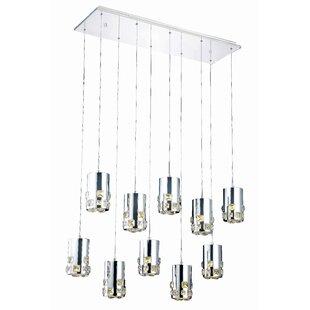 Everly Quinn Verline 10-Light Pendant