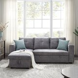 Annalesia 91'' Faux Leather Reversible Sleeper Sofa & Chaise by Red Barrel Studio®