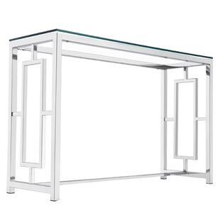 Mercer41 Rhoads Stainless Steel Console Table