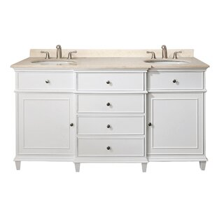Egremt 60 inch  Double Bathroom Vanity Set
