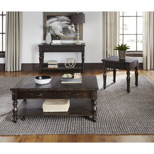 Charlton Home Tower 3 Piece Coffee Table Set