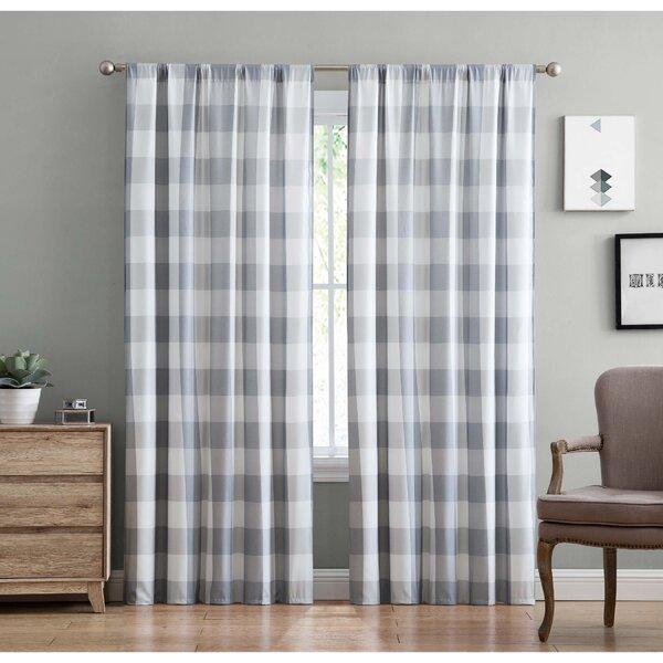 Gray Buffalo Plaid Curtains Wayfair