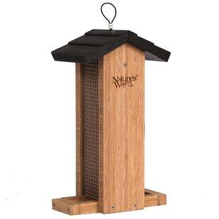 Nature's Way Bamboo Vertical Mesh Hopper Bird Feeder