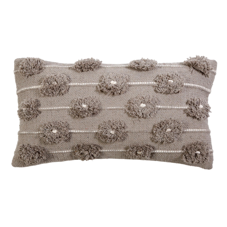 Pom Pom At Home Lola Cotton Feathers Striped Lumbar Pillow Wayfair