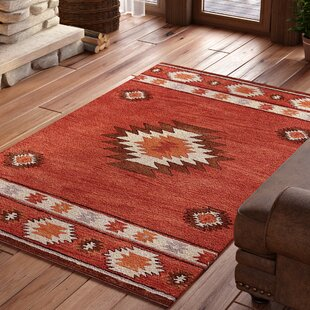 Reviews Joshua Hand-Tufted Red Wine Area Rug By Loon Peak