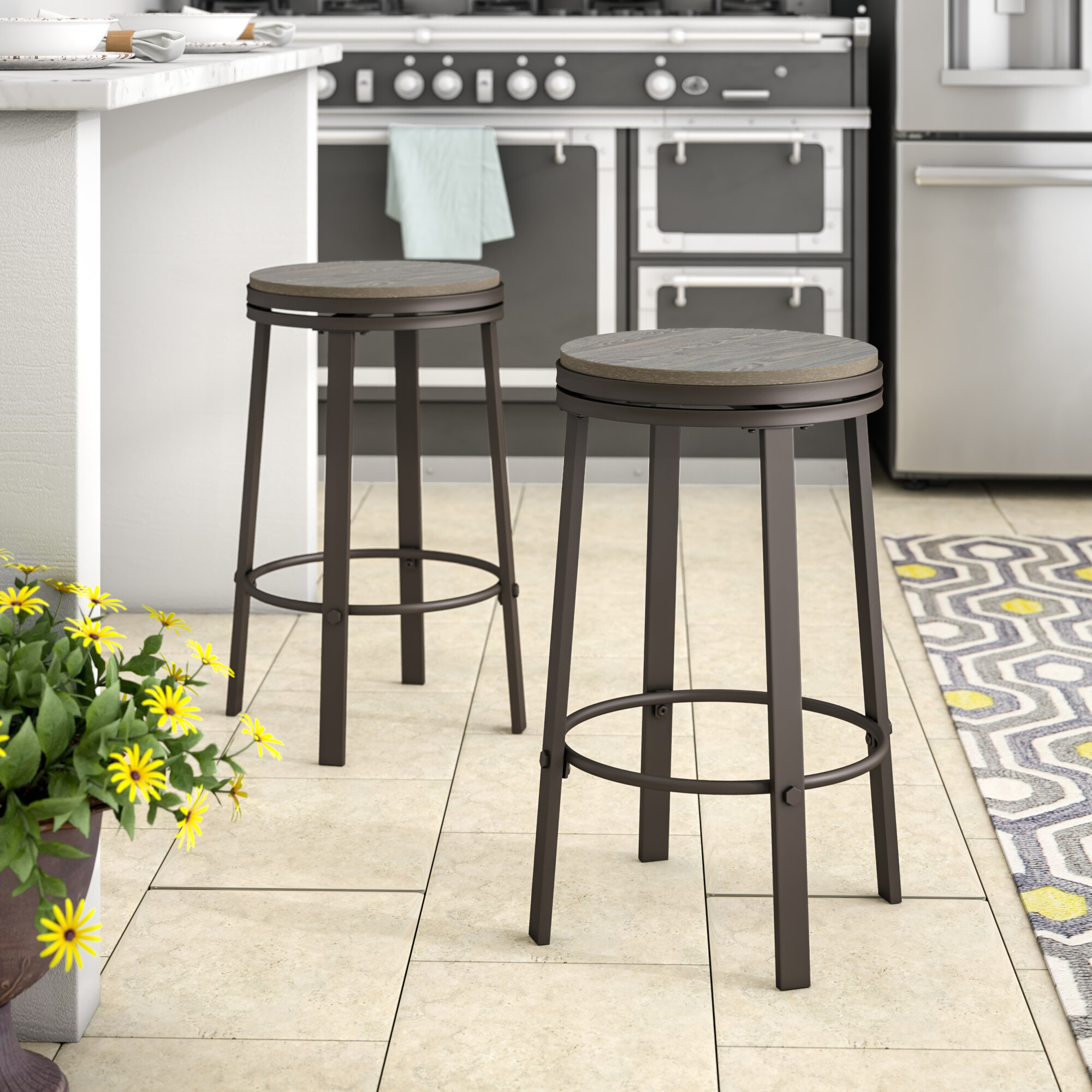 Image of: Backless Bar Stools Counter Stools You Ll Love In 2020 Wayfair