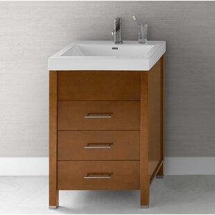 Meubles-lavabos 60 po: Ton du bois - Bois jaune moyen | Wayfair.ca