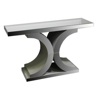 Review Courtney Glass Console Table By Rosdorf Park