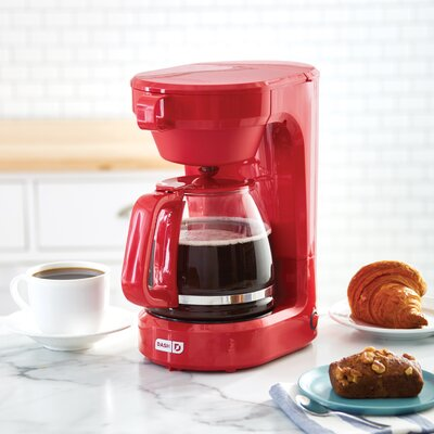 DASH 12-CUP Express Coffee Maker  Color: Red