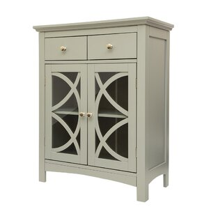 Wooden Free Standing 2 Drawer Accent Cabinet