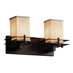 Latitude Run Red Hook Modern 2 Light LED Square w/ Flat Rim Vanity Light