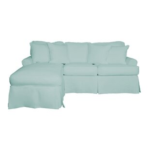 Where buy  Huguley T-Cushion Sofa and Chaise Lounge Slipcover by Symple Stuff Reviews (2019) & Buyer's Guide