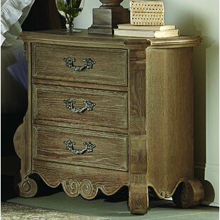 Chrysanthe 3 Drawer Nightstand by Homelegance