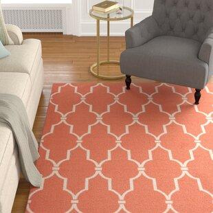 Coyne Orange/White Indoor/Outdoor Area Rug