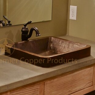 Find Skirted Metal Rectangular Vessel Bathroom Sink By Premier Copper Products