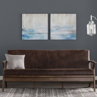 Buy luxury Arick Mid-Century Faux Leather Modern Sofa by Trent Austin Design Reviews (2019) & Buyer's Guide