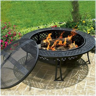 CobraCo Diamond Steel Wood Burning Fire P..