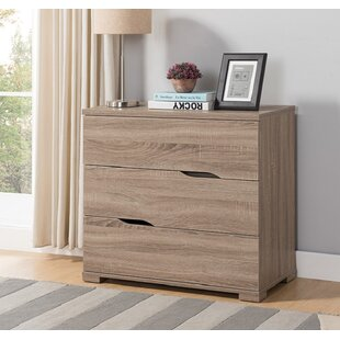 Elizebeth Wooden Utility Storage 3 Drawer Chest