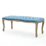 Samaira Velvet Upholstered Bench