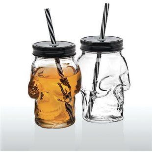 Skull Sippy Cups 16 Oz. Insulated Tumbler (Set of 2)