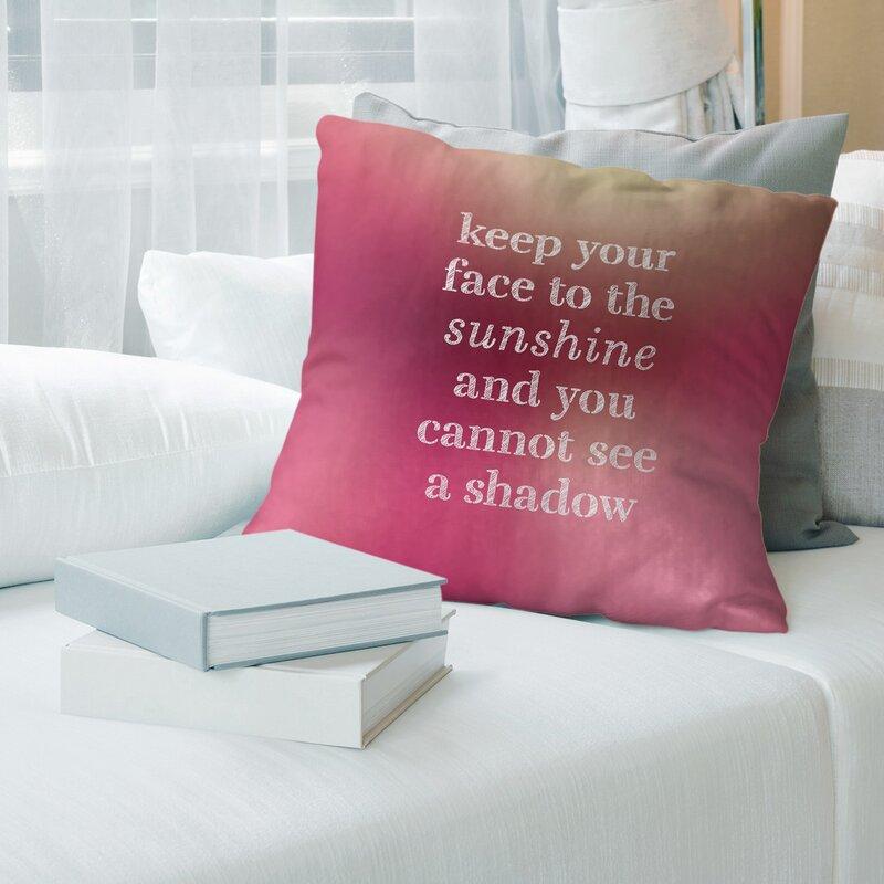 East Urban Home Optimism Inspirational Pillow Wayfair