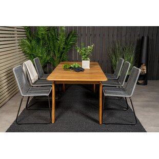 Charvi 6 Seater Dining Set By Sol 72 Outdoor