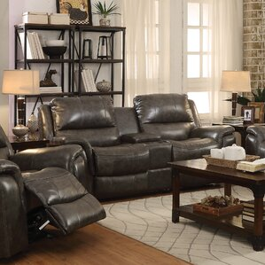 Hughes Motion Reclining Loveseat by Red Barr..
