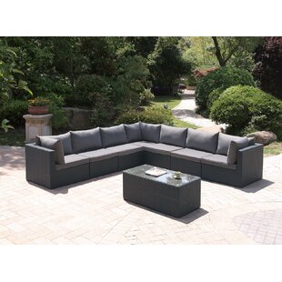 JB Patio 8 Piece Sectional Set with Cushions