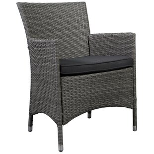 Finola Deluxe Arm Chair with Cushion (Set of 2) by Beachcrest Home